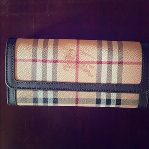 Authentic Burberry Haymarket Wallet - Brand New